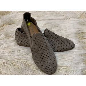 NWOT Lucky Brand Charsa Perforated Suede Loafers